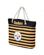 Pittsburgh Steelers Nautical Stripe Tote Bag