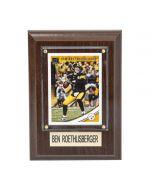 Pittsburgh Steelers #7 Ben Roethlisberger 4x6 Plaque