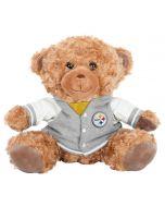 Pittsburgh Steelers Plush Bear with Varsity Jacket