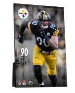 Pittsburgh Steelers #90 T.J. Watt 4x6 Easel Back PlexArt
