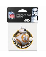 Pittsburgh Steelers Star Wars BB-8 Resistance 4x4 Decal