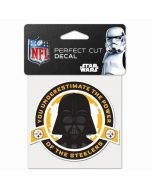 Pittsburgh Steelers 4x4 Vinyl Star Wars Color Logo Decal