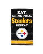 Pittsburgh Steelers Eat, Drink Milk, Steelers, Repeat Baby Burp Cloth