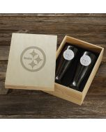 Pittsburgh Steelers Wendell August Forge 2-Piece Aluminum Pilsner Set with Collectible Box