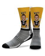 Pittsburgh Steelers T.J. Watt V-Curve Socks