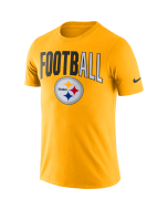 Pittsburgh Steelers Men's Nike Short Sleeve FootbALL Gold T-Shirt