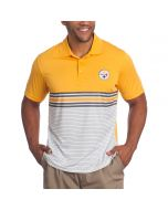 Pittsburgh Steelers Cutter & Buck Heron Lakes Print Gold Polo