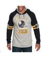 Pittsburgh Steelers Icer Raglan Long Sleeve Hooded T-Shirt