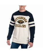 Pittsburgh Steelers Mitchell & Ness Swing Pass Long Sleeve Top