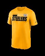 Pittsburgh Steelers Men's Nike Short Sleeve Playbook Sideline Gold T-Shirt