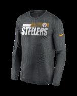 Pittsburgh Steelers Men's Nike Long Sleeve Playbook Sideline Grey T-Shirt