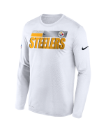 Pittsburgh Steelers Men's Nike Long Sleeve Playbook Sideline White T-Shirt
