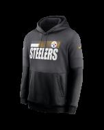 Pittsburgh Steelers Men's Nike Playbook Therma Grey Sideline Hoodie