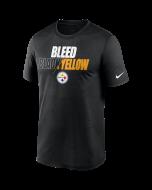 Pittsburgh Steelers Men's Nike Short Sleeve Legend Bleed Black & Yellow T-Shirt