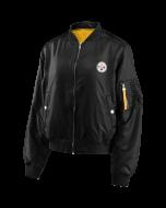 Pittsburgh Steelers Women's Coordinate Mediumweight Bomber Jacket