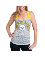 Pittsburgh Steelers Women's New Era Space Dye Tank
