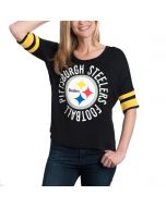 Pittsburgh Steelers Women's New Era Boxy Black T-Shirt