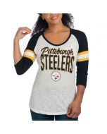 Pittsburgh Steelers Women's New Era Long Sleeve Raglan T-Shirt