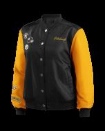 Pittsburgh Steelers Women's Nylon Bomber Jacket