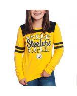 Pittsburgh Steelers Girl's New Era Football Long Sleeve T-Shirt