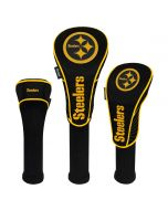 Pittsburgh Steelers Color Rush Driver, Fairway, & Hybrid Golf Headcovers - 3 pack