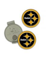 Pittsburgh Steelers Color Rush Golfer's Hat Clip with Ball Marker