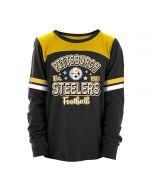 Pittsburgh Steelers Girls' Exclusive Slub Long Sleeve T-Shirt