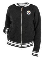 Pittsburgh Steelers Women's New Era Varsity Full Zip Sherpa