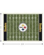"""Pittsburgh Steelers Team Field 7'8"""" x 10'9"""" Rug"""
