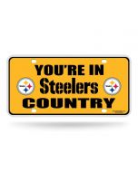 Pittsburgh Steelers Country Gold License Plate