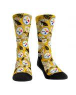 Pittsburgh Steelers Floral Palm Socks