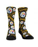 Pittsburgh Steelers Logo Sketch Socks