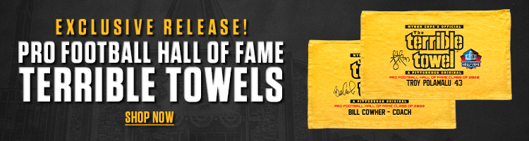 Hall of Fame Terrible Towels are here